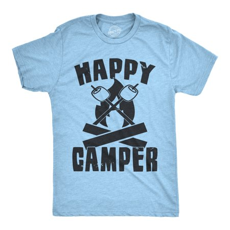 Mens Happy Camper Shirt Funny Camping Shirts Cool Vintage Tees Retro Design - Happy Nurses Day Funny