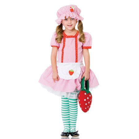 Strawberry Shortcake Girls Child Costume LAC48113 - Small - Strawberry Shortcake Costume Girls