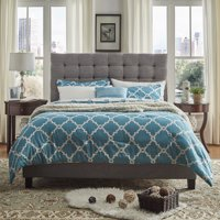 Chelsea Lane Button Tufted Upholstered Platform Bed, Multiple Colors, Multiple Sizes