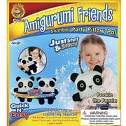 Lion Brand Amigurumi Friends Pillow Pal Kit, Pookie The Panda