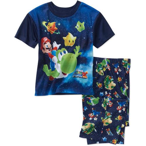 Nintendo Boys' Mario 2-Piece Pajama Set
