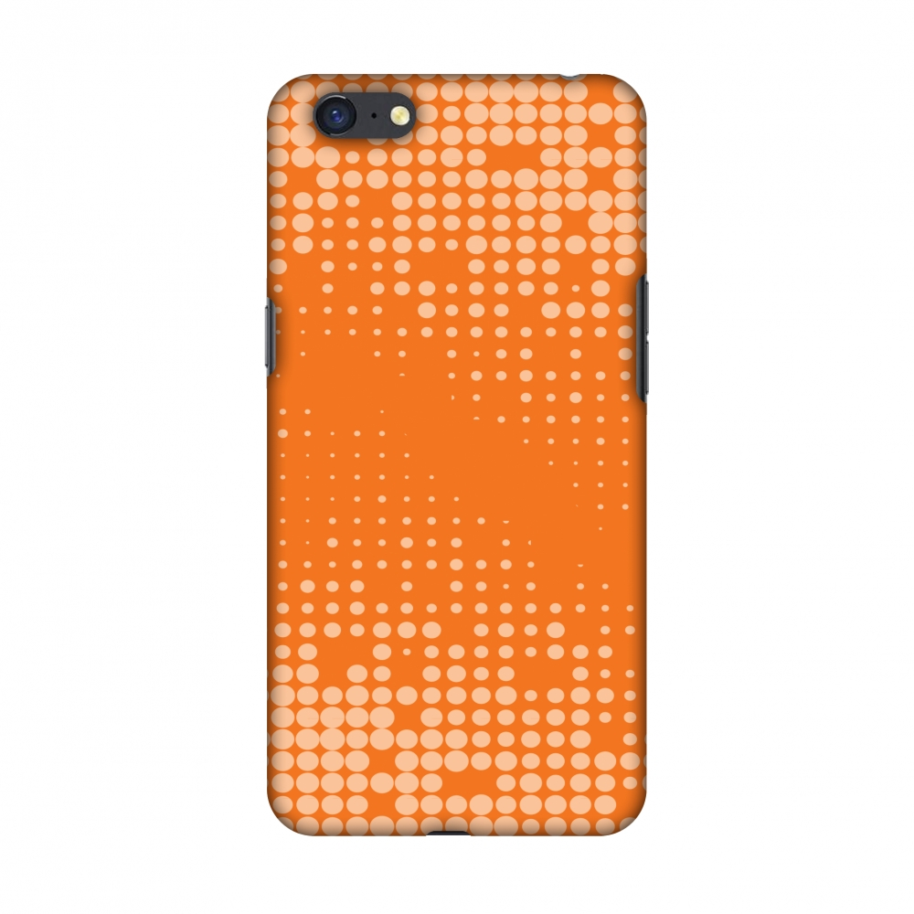 Oppo A71 Case, Premium Handcrafted Printed Designer Hard ShockProof Case Back Cover with Screen Cleaning Kit for Oppo A71 - Carbon Fibre Redux Tangy Orange 11
