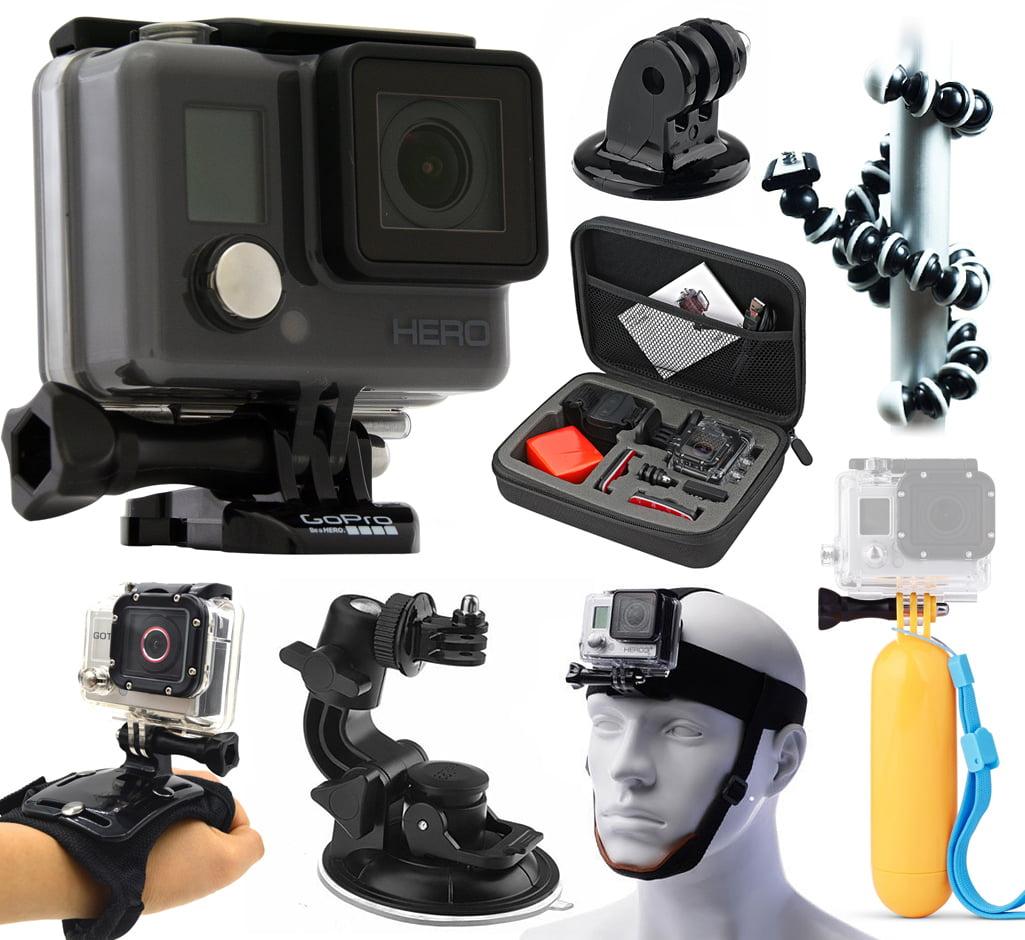 GoPro HERO Action Camcorder Camera Camcorder (CHDHA-301+ Premium Travel Case + Flexible Tripod + ...