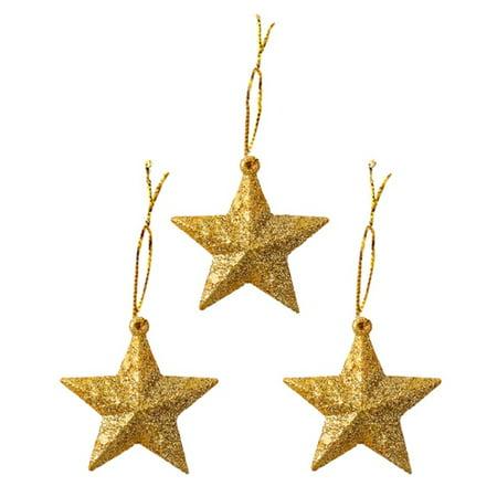 10Pcs Christmas Gift Star Ball Shape Decoration Christmas Tree Pendant Set Year Cute Ornaments ()