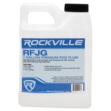Rockville Gallon Fluid Smoke Juice For American DJ ADJ FOG FURY 1000 II Fogger - Bubble Fogger