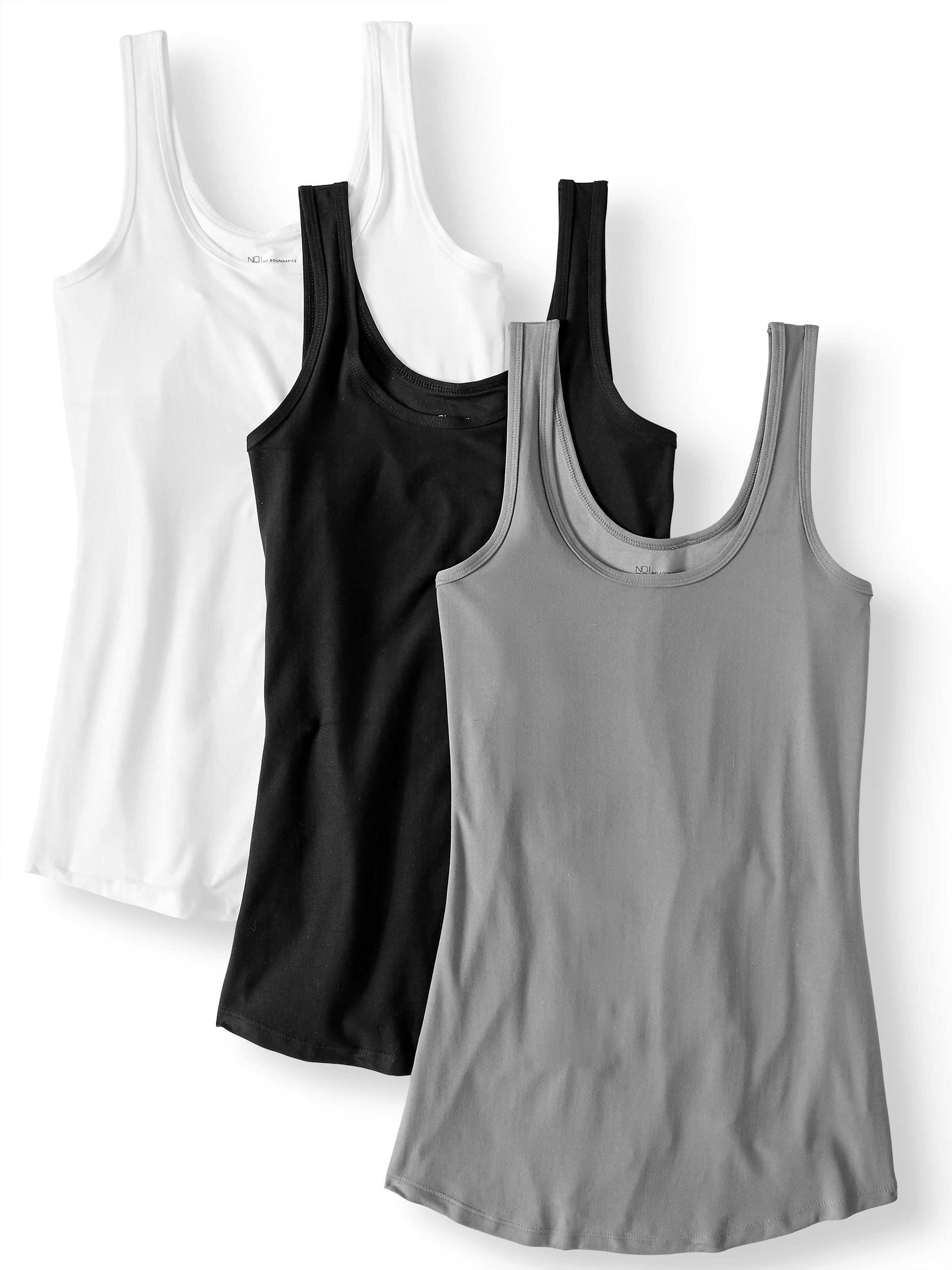 Juniors' Scoop Neck Tank 3-Pack Value Bundle