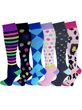 4d545286a Product Image Differenttouch 6 Pairs Women Graduated Compression Knee High  Socks 9-11