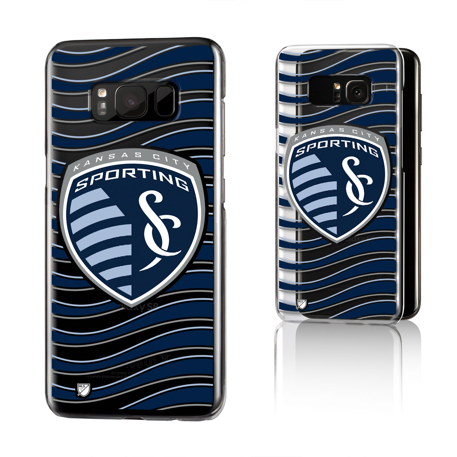 Sporting Kansas City SPORTING Wave Clear Case for Galaxy S8