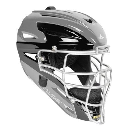 All-Star MVP4000-TT-1 Silver/Black MVP Pro Two-Tone Catcher Helmet Fits 7- - All Star Mvp Catchers Helmet