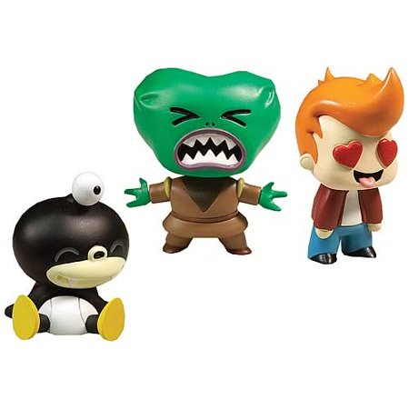 Tineez Nibbler Morbo Fry 3 Pack (Series 2), Small, detailed and happy! Cute, stylized figures featuring your favorite Futurama Characters By - Fry From Futurama