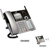 VTech CM18445 4-Line Small Business Phone with CM18245 2 Cordless Desksets