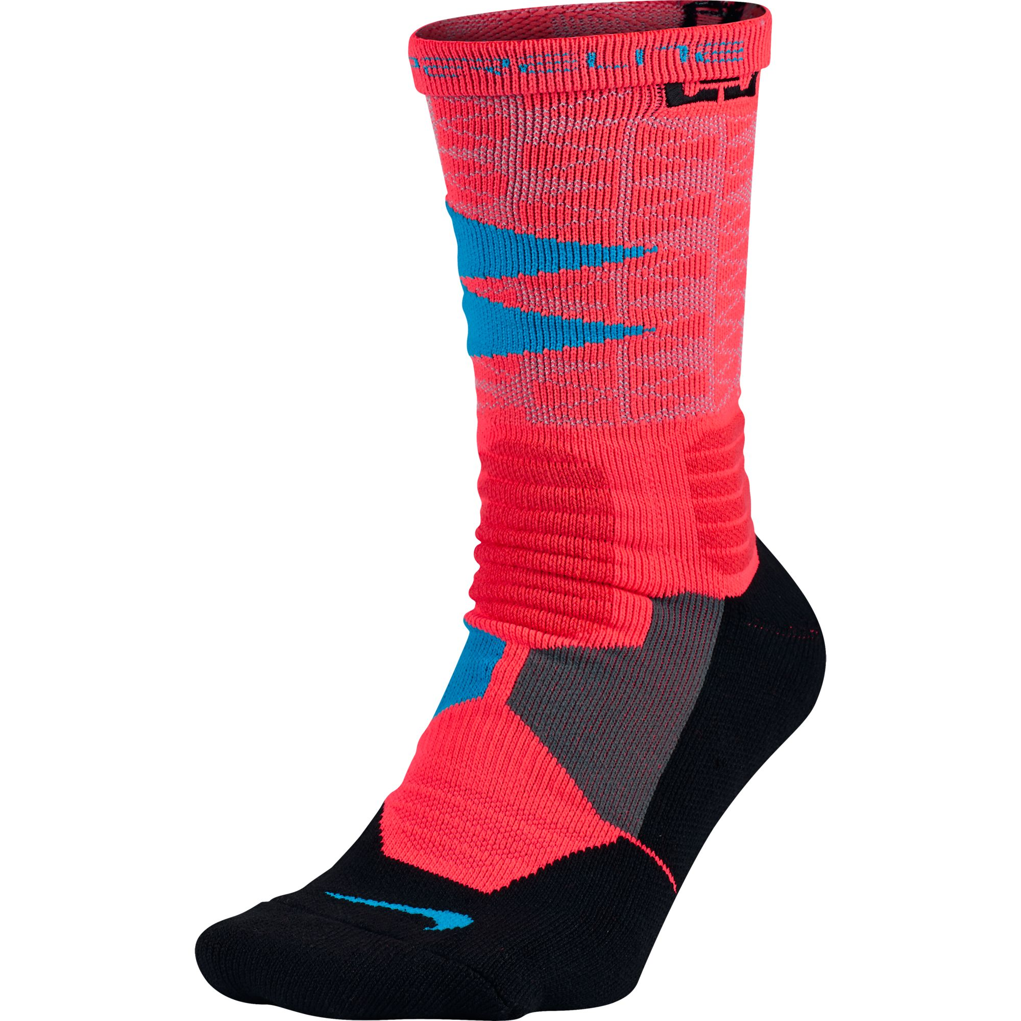 Nike Lebron Hyper Elite Men's Basketball Socks Bright Crimson/Black  sx5067-671
