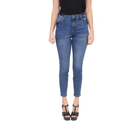 Eco Friendly Jeans (Celebrity Pink Jeans Women High Rise Ankle Skinny Jeans with Whisker Detail MADE WITH ORGANIC COTTON ECO FRIENDLY DENIM 1 Dark Denim)