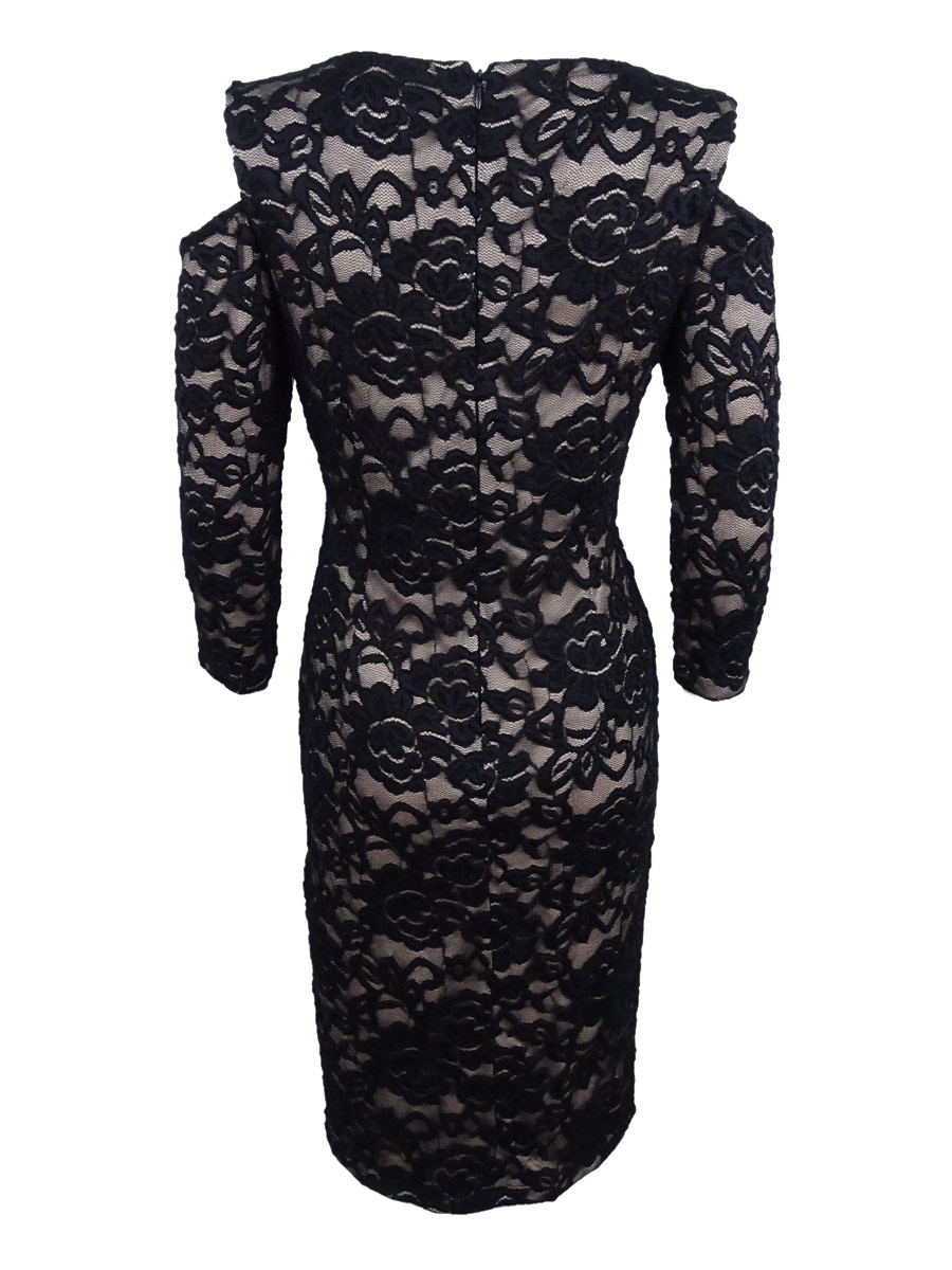 0c4065dd87e6 Jessica Howard - Jessica Howard Women's Cold-Shoulder Lace Sheath Dress -  Walmart.com