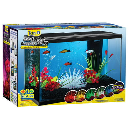 Tetra ColorFusion 5-Gal. Glass Bubbling Aquarium Starter Kit with LED ()
