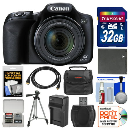 Canon Powershot Sx530 Hs Wi Fi Digital Camera With 32Gb Card   Case   Battery   Charger   Tripod   Kit