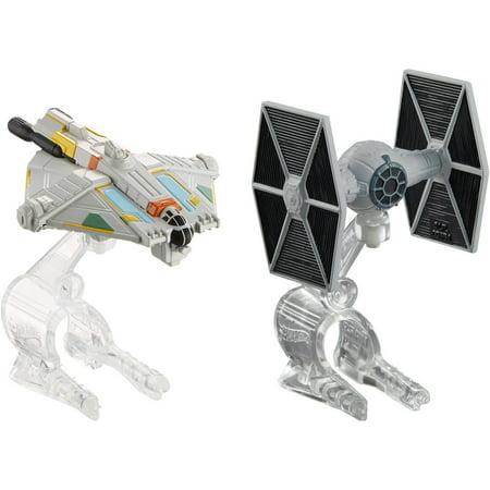 Hot Wheels Star Wars Starship Ghost Vs  Tie Fighter
