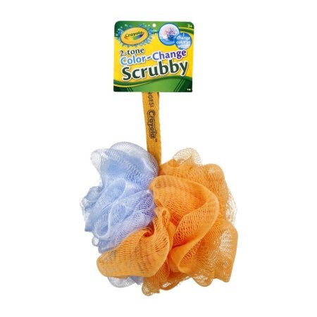 Crayola 2-Tone Color-Change Scrubby Body Sponge