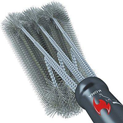 360  Clean Grill Brush  Kona 18 Best Bbq Grill Brush   Stainless Steel 3 In 1 Grill Cleaner Provides Effortless Cleaning  Great Grill Accessories Gift