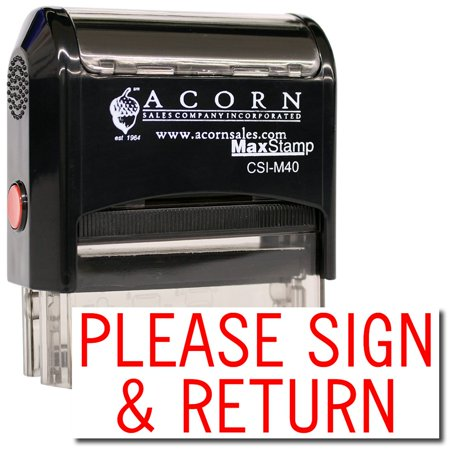(Large Self-Inking Please Sign & Return Stamp)