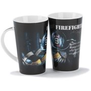 Firefighter - A Caring Heart Ceramic Stoneware Mug - Holds 12 Ounces