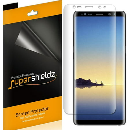 [2-Pack] Supershieldz for Samsung Galaxy Note 8 Screen Protector, [Full Screen Coverage] Anti-Bubble High Definition (HD) Clear Shield ()