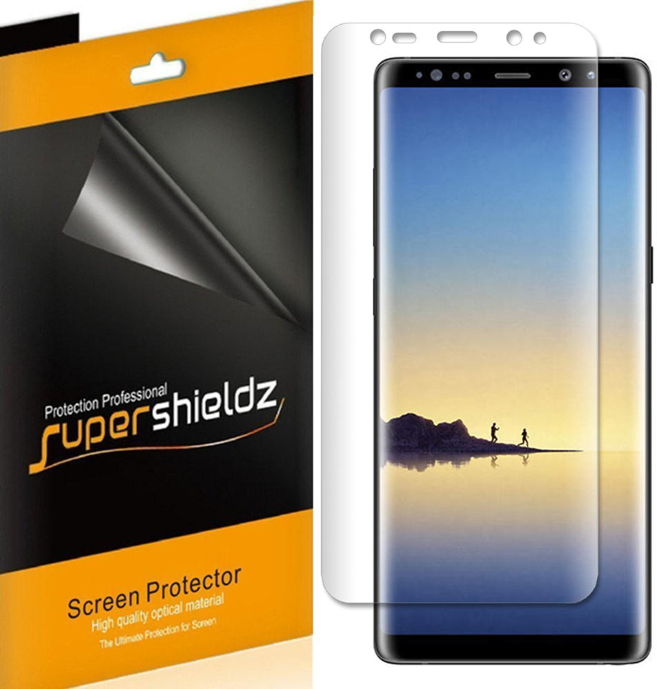 [2-Pack] Supershieldz  Samsung Galaxy Note 8  Screen Protector, [Full Screen Coverage] Anti-Bubble High Definition (HD) Clear Shield