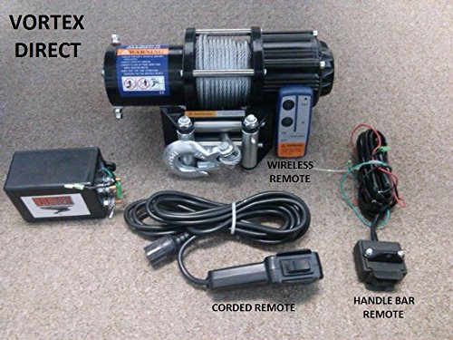 VORTEX 4000LB ATV WINCH! 3 REMOTES! FREE SHIPPING! (FAST SHIPPING - 1 TO 4  BUSINESS DAY DELIVERY) - Walmart.com - Walmart.com | Vortex Winch Wiring Diagram |  | Walmart