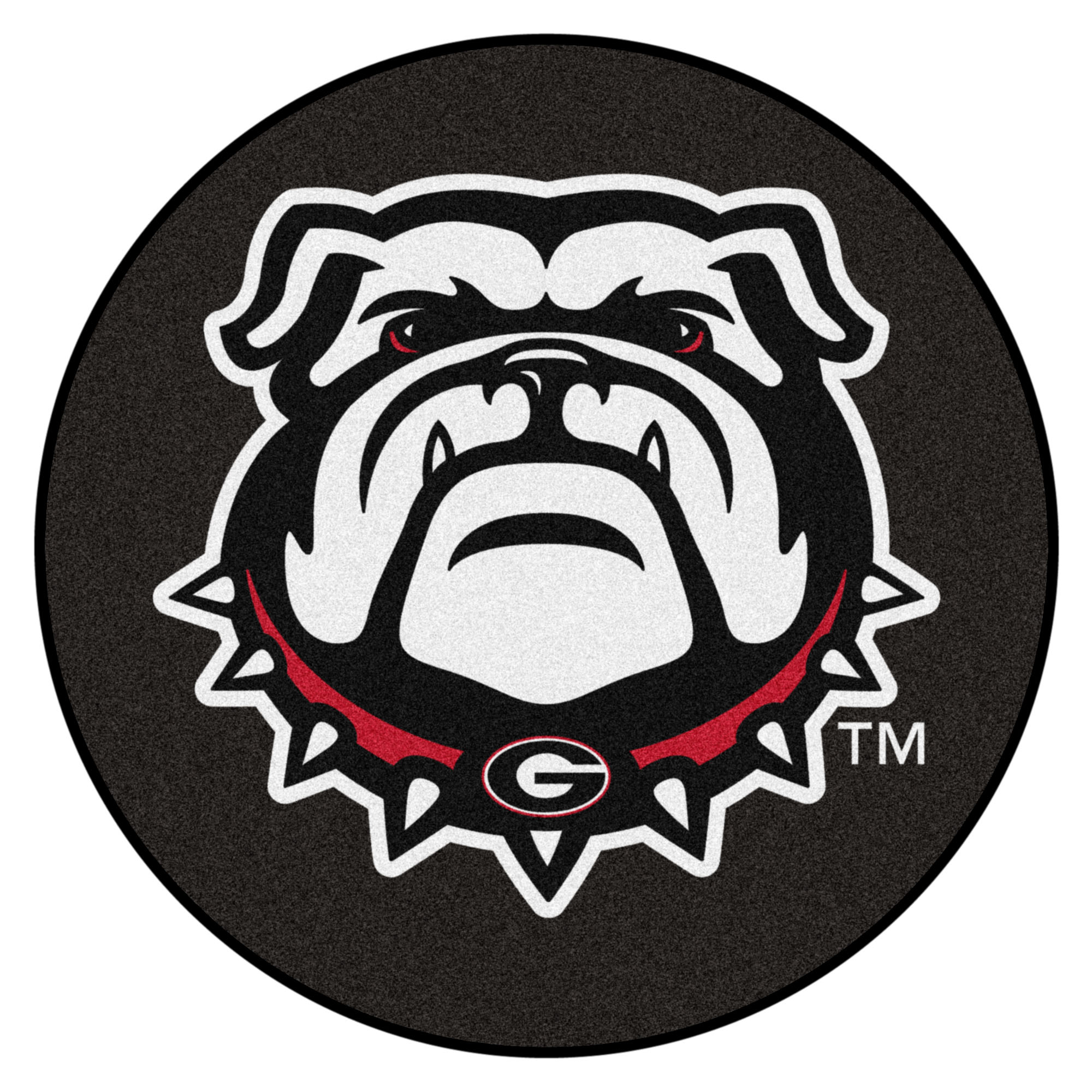 "Georgia Black New Bulldog Puck Mat 27"" diameter"
