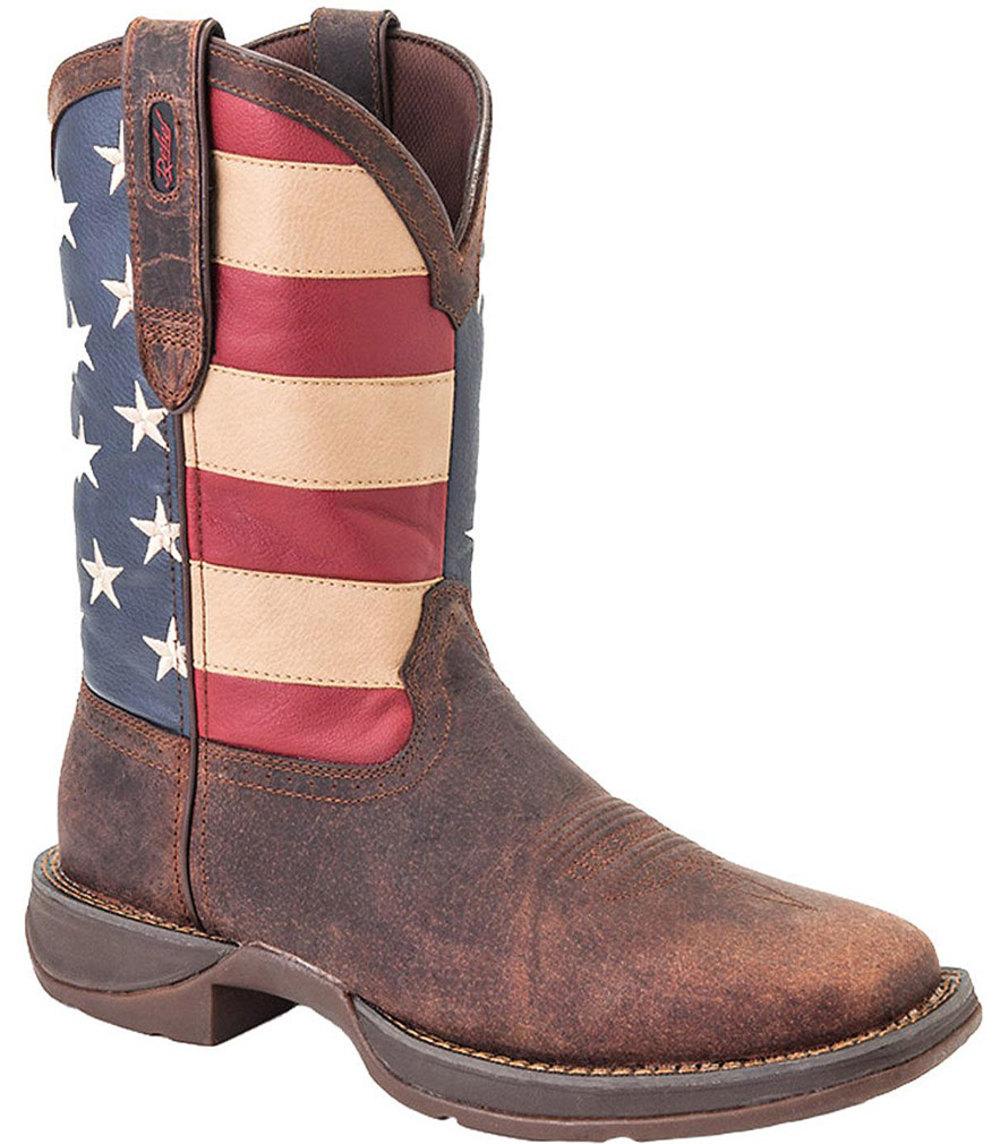 """Durango Men's 11"""" Steel Toe Brown Work Boots 13 M by Durango"""