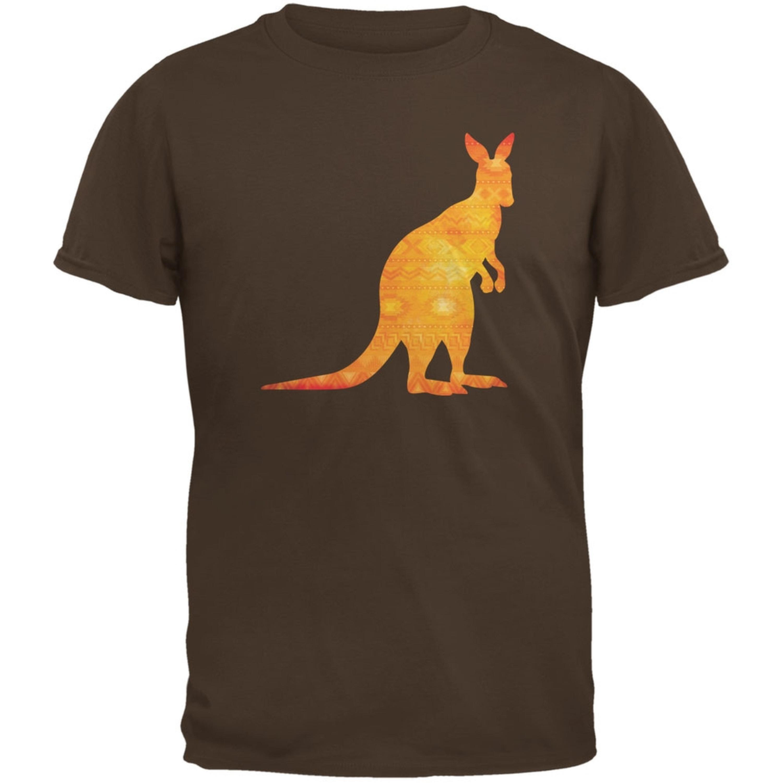 Australian Spirit Animal Kangaroo Brown Adult T-Shirt