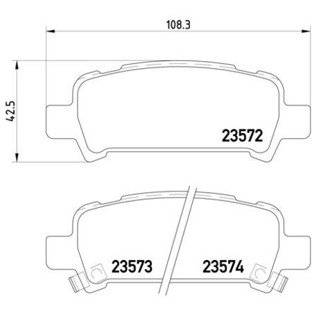 Go-Parts » 1998-2003 Subaru Forester Rear Disc Brake Pad Set for Subaru Forester (Base / L / S / XS)