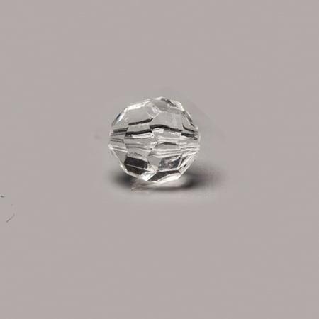 Faceted Round Transparent Clear Acrylic Pendants 12x12.5mm Sold per pkg of 100Gram/111pcs