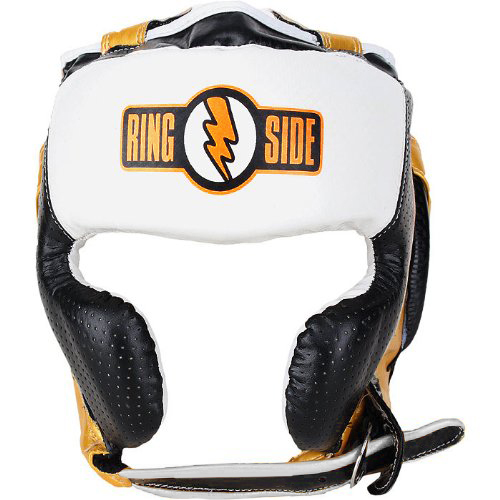Ringside Youth Mexi-Flex Boxing Headgear - Black/Gold/White