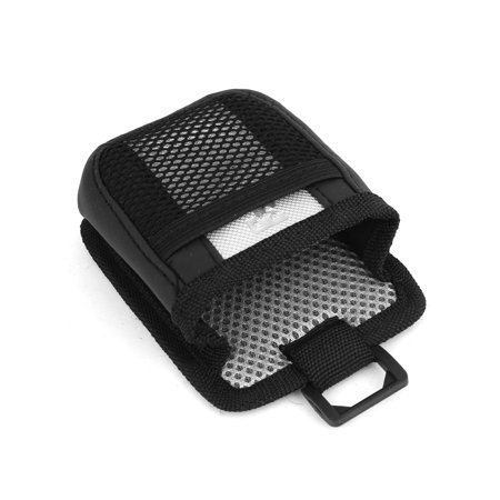 Black Silver Tone Net Design Nylon Auto Car Air Vent Phone Storage Pocket w Hook - image 2 of 3