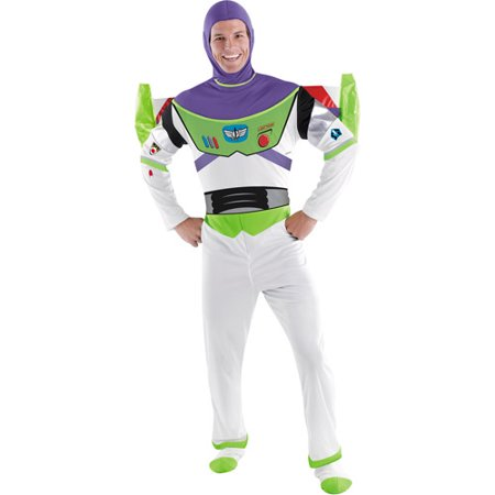 Toy Story Buzz Lightyear Adult Halloween Costume](Buzz Lightyear Deluxe Costume)