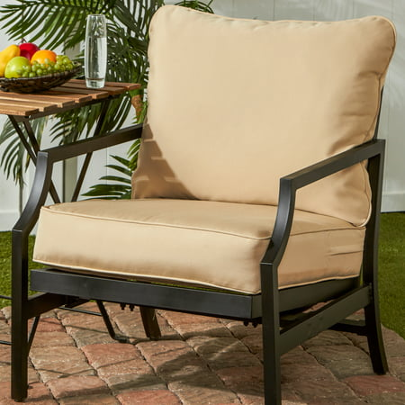 Greendale Home Fashions Outdoor Solid Deep Seat Cushion Set Deep Seating Set Canvas