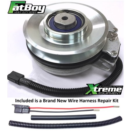 Bundle - 2 items: PTO Electric Blade Clutch, Wire Harness Repair Kit.  Replaces Warner 5218-134 FatBoy PTO Clutch - w/ Harness Repair Kit - OEM UPGRADE 2 Way Upgrade Kit