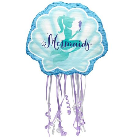Mermaids Under the Sea Pull String Pinata - Mermaids Party Supplies