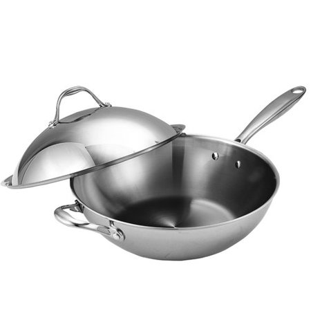 Cooks Standard 13 Quot Wok With Dome Lid Multi Ply Clad