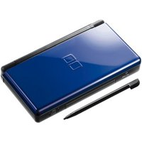 Refurbished Nintendo DS Lite Cobalt Black Video Game Console with Stylus and Charger