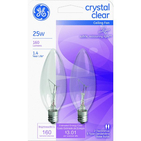 GE B Type Ceiling Fan Light Bulb