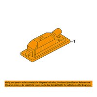 Jeep CHRYSLER OEM 15-16 Renegade License Plate Light-Lamp 68247166AA