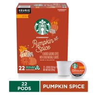 Starbucks Flavored K-Cup Coffee Pods  Pumpkin Spice for Keurig Brewers  1 box (22 pods)