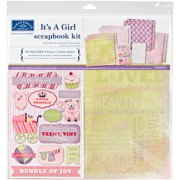 "Scrapbook Page Kit 12"" x 12"", It's A Girl"
