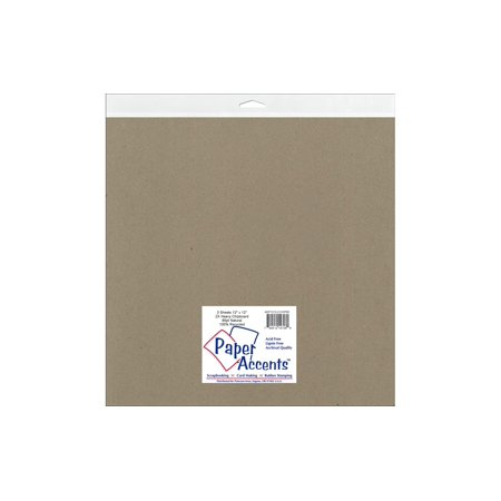 Chipboard 12x12 2X Heavy 85pt Natural 2pc