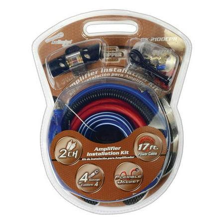 Car Audio Amp Kit 4 Gauge Copper Amplifier Wiring Installation Car