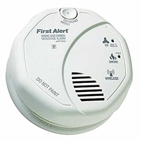 First Alert Sco500b Olcombov Wireless Interconnect Smoke And Carbon Monoxide Combo Alarm With Voice   Location  Frust Free