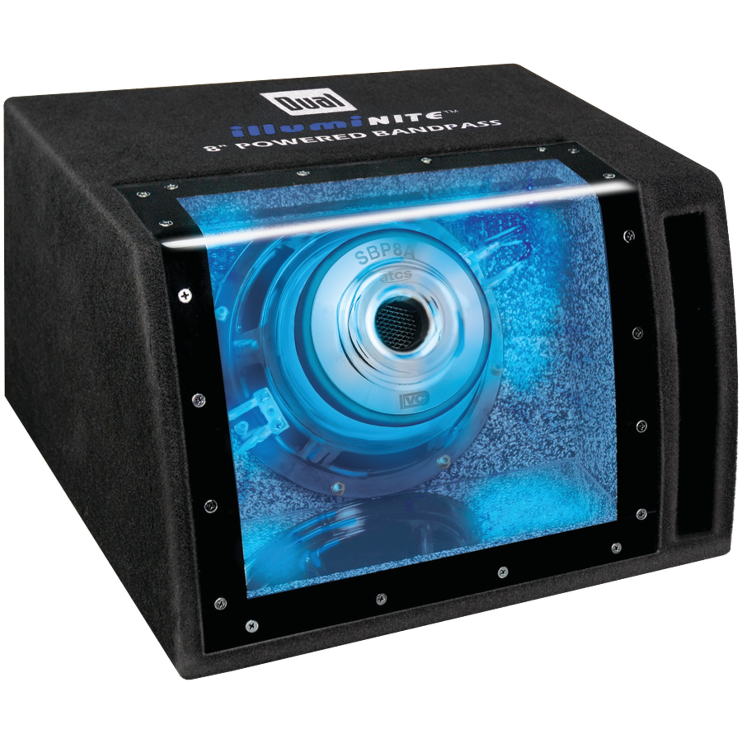 "Dual Sbp8a 8"" Amplified Bandpass Box"