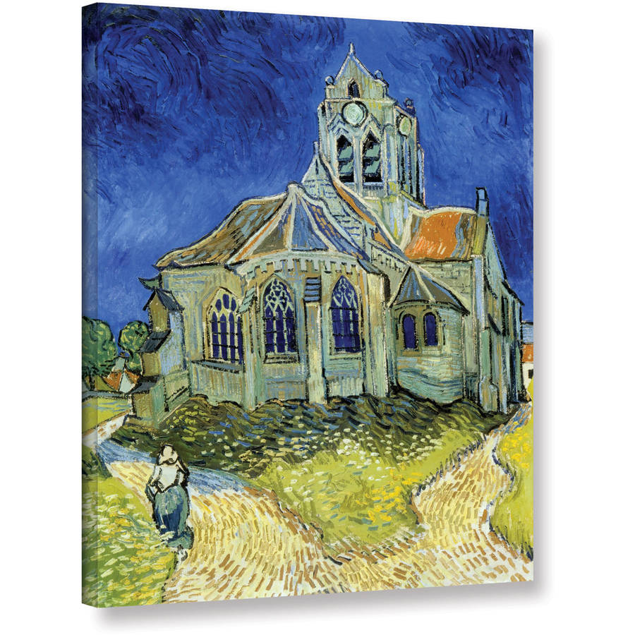 "ArtWall Vincent van Gogh ""The Church at Auvers"" Wrapped Canvas Art"